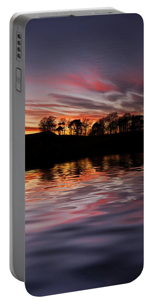 Sunset Portable Battery Charger featuring the photograph Sunset Reflection by David Pringle