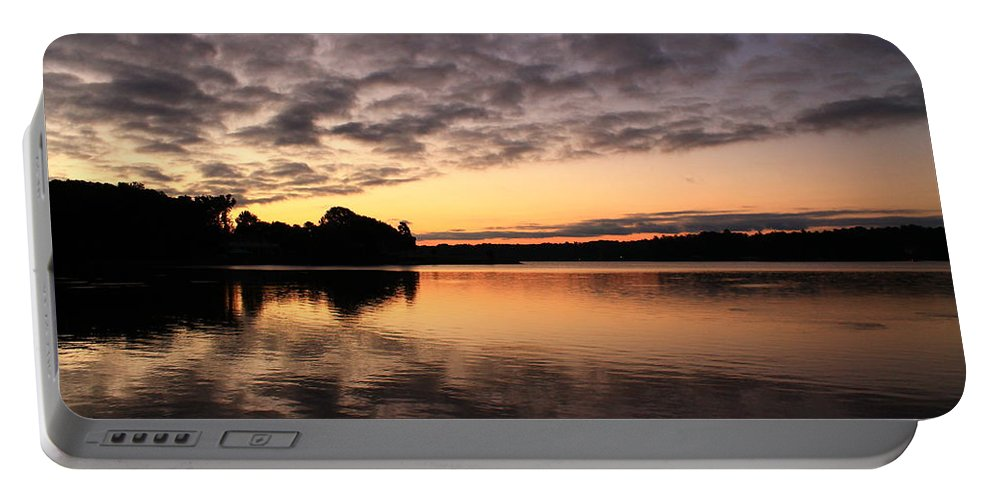 Sunrise Portable Battery Charger featuring the photograph Sunrise Reflections by Catie Canetti