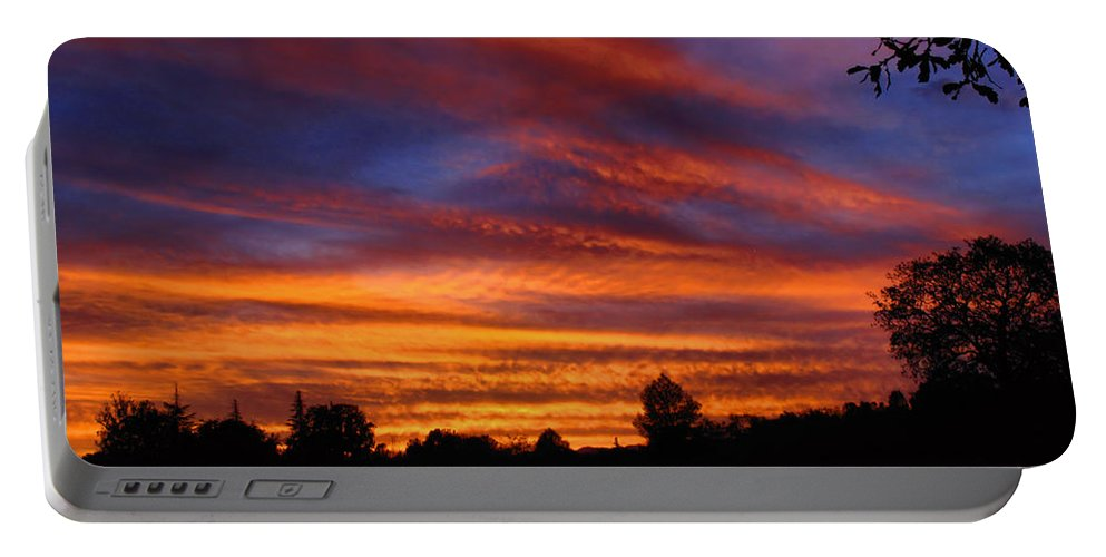 Sunset Portable Battery Charger featuring the photograph Sunset 2  09 22 12 by Joyce Dickens