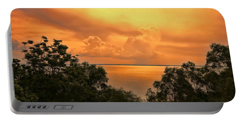 Clouds Portable Battery Charger featuring the photograph Sunset At The Esplanade by Douglas Barnard