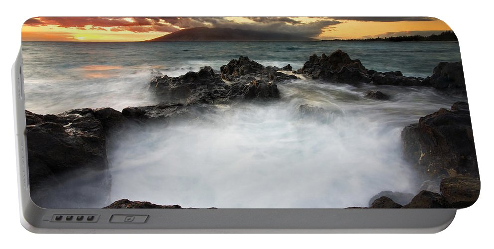Sunset Portable Battery Charger featuring the photograph Sunset Boil by Mike Dawson