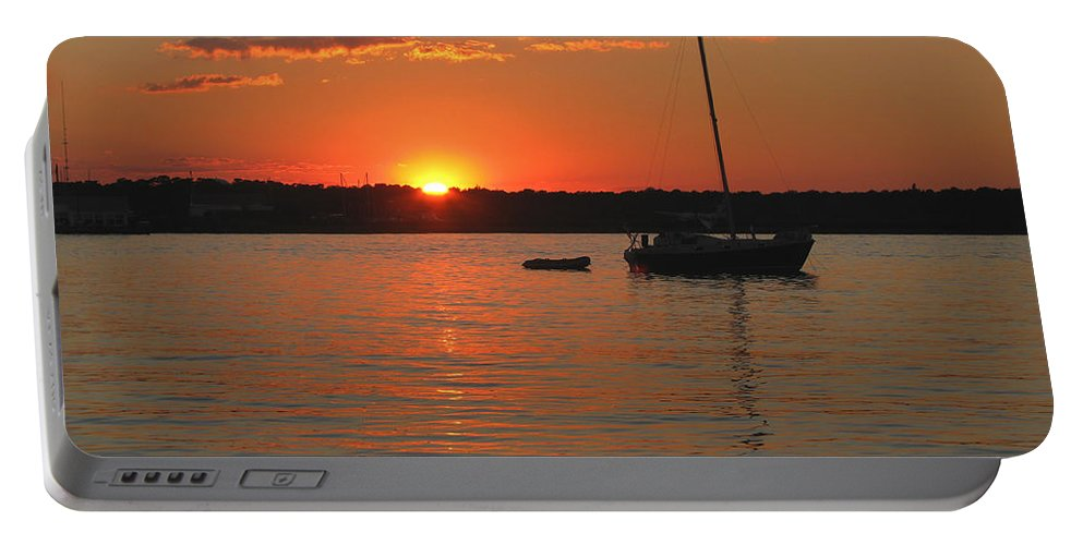 Sunset Portable Battery Charger featuring the photograph Sunset Cove by Clara Sue Beym