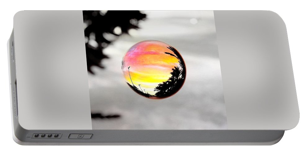 Sunset Portable Battery Charger featuring the photograph Sunset In A Bubble by Marianna Mills