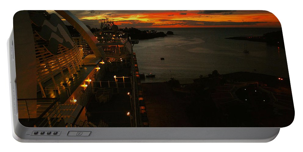 Sunset Portable Battery Charger featuring the photograph Sunset In Paradise by Gary Wonning