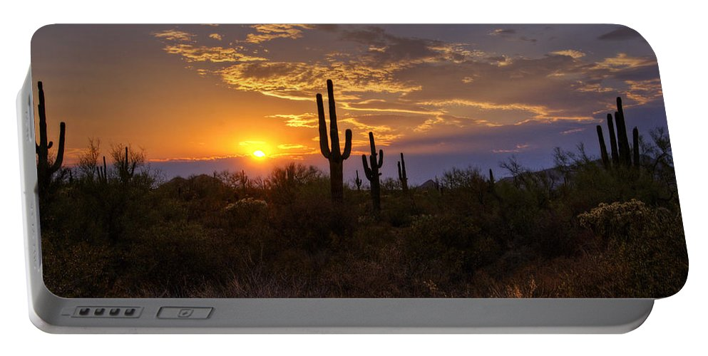 Sunset Portable Battery Charger featuring the photograph Sunset In The Southwest by Saija Lehtonen