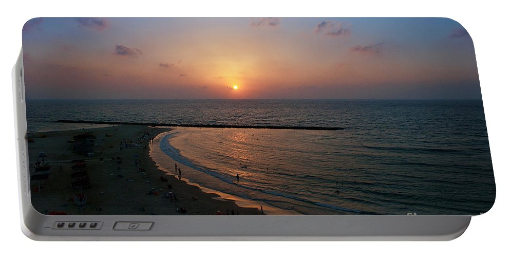 Natanya Portable Battery Charger featuring the photograph Sunset by Philip Golan