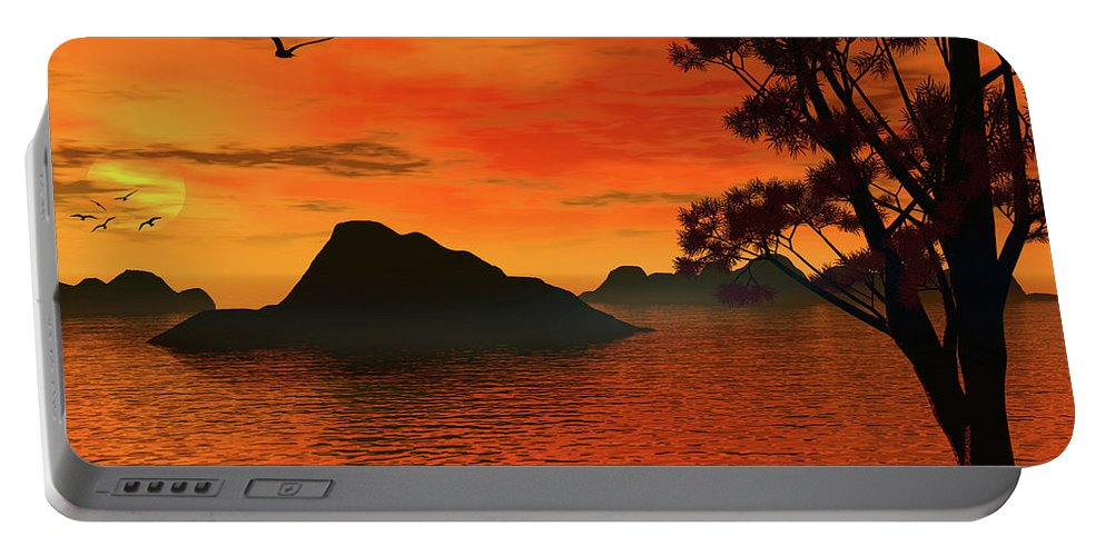 Sunset Portable Battery Charger featuring the photograph Sunset Serenade by Lourry Legarde