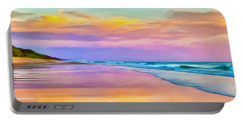 Sunset Portable Battery Charger featuring the painting Sunset South Of Todos Santos by Dominic Piperata