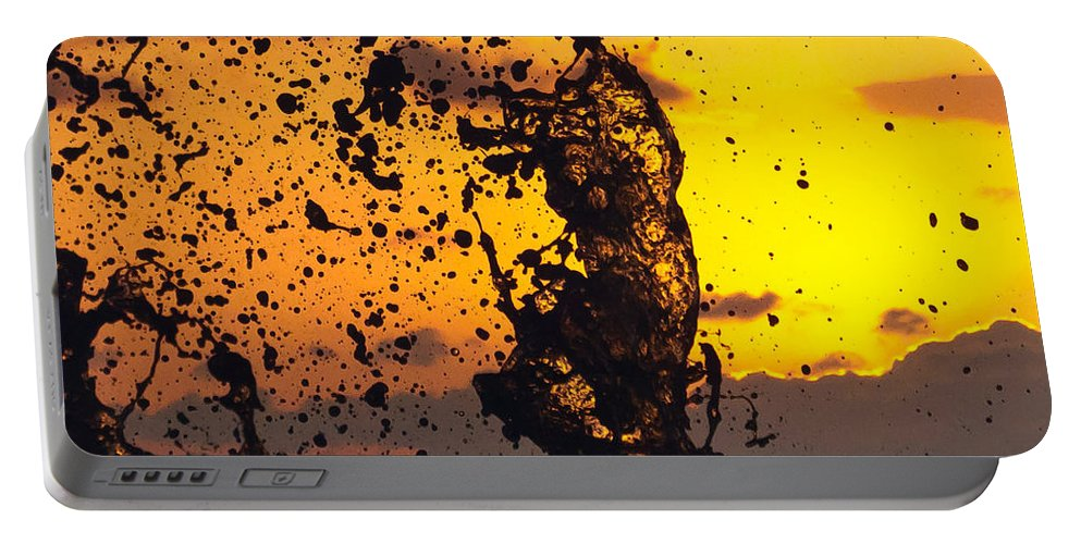 Sun Portable Battery Charger featuring the photograph Sunset Splash 3 by Bill Lindsay
