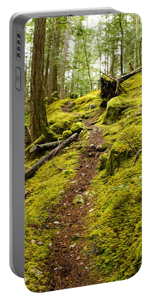 Trail Portable Battery Charger featuring the photograph Sunshine Coast Trail by Danielle Silveira