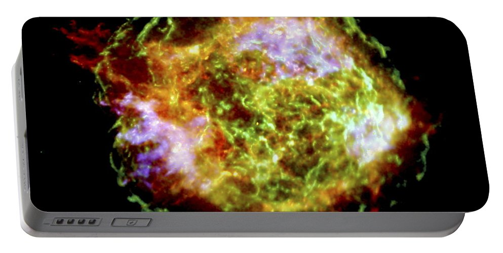 Astronomical Portable Battery Charger featuring the photograph Supernova Remnant Cassiopeia A by NASA Science Source