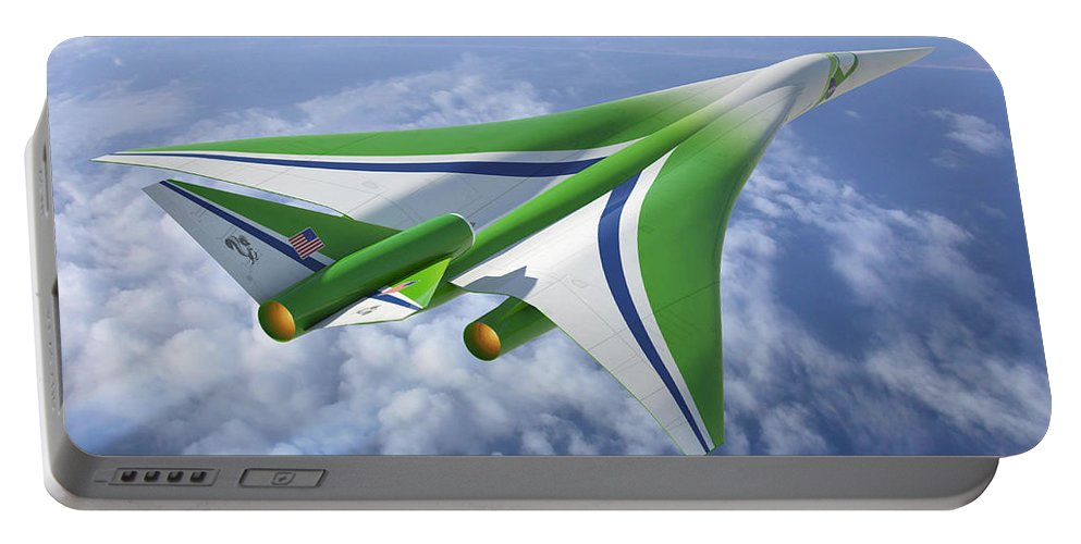 Science Portable Battery Charger featuring the photograph Supersonic Aircraft Design by NASA/Science Source