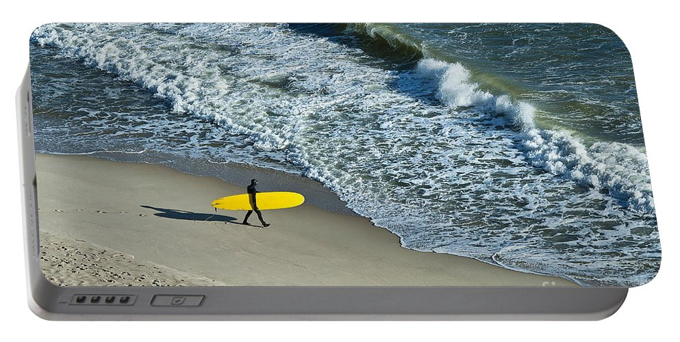 Cc2011 Portable Battery Charger featuring the photograph Surfer by John Greim