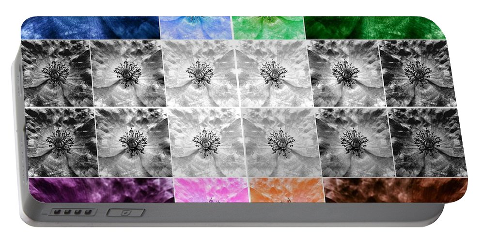 Poppy Portable Battery Charger featuring the photograph Surreal Poppies by Marianna Mills