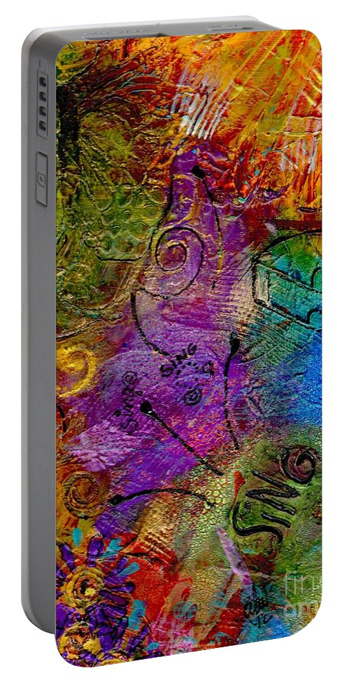 Collage Portable Battery Charger featuring the mixed media Sweet Songs Of Nature by Angela L Walker