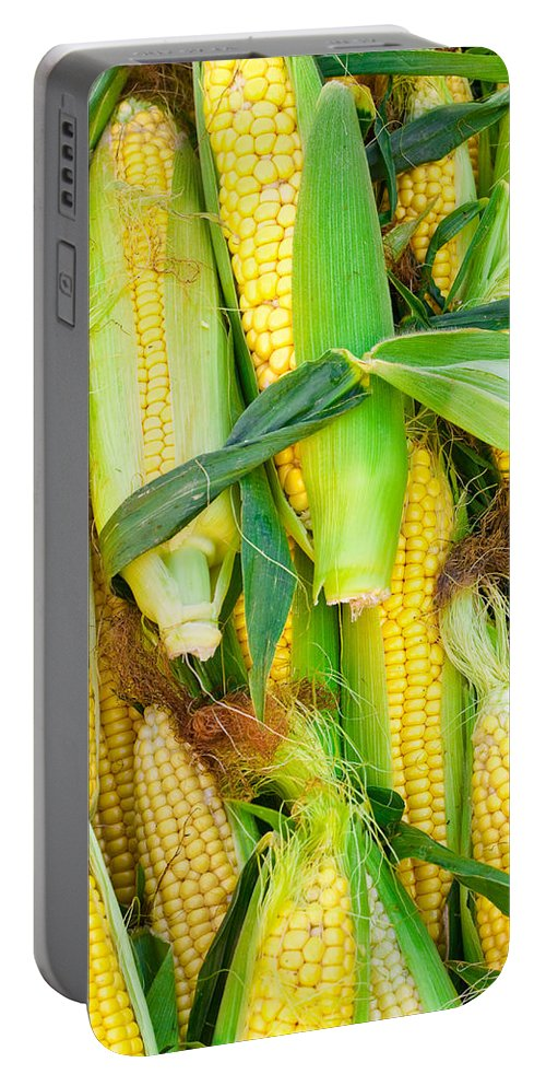 Agriculture Portable Battery Charger featuring the photograph Sweetcorn by Tom Gowanlock
