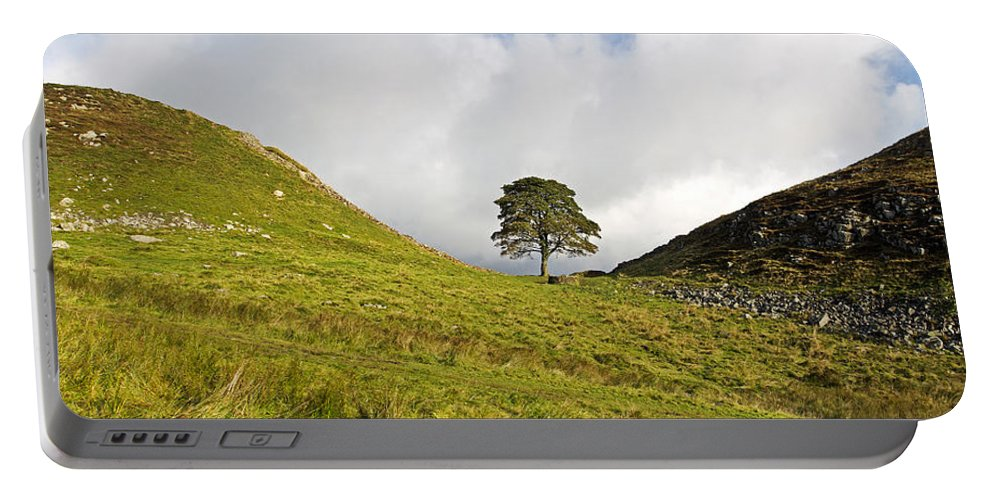 Roman Wall Portable Battery Charger featuring the photograph Sycamore Gap II by David Pringle