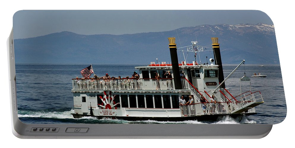 Usa Portable Battery Charger featuring the photograph Tahoe Gal On Lake Tahoe by LeeAnn McLaneGoetz McLaneGoetzStudioLLCcom