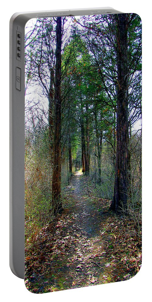 Trails Portable Battery Charger featuring the photograph Taking The Long Trail by Marie Jamieson