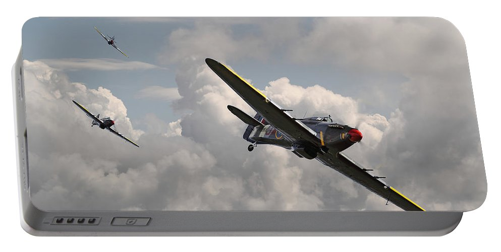 Aircraft Portable Battery Charger featuring the photograph Hurricane - Tally Ho by Pat Speirs