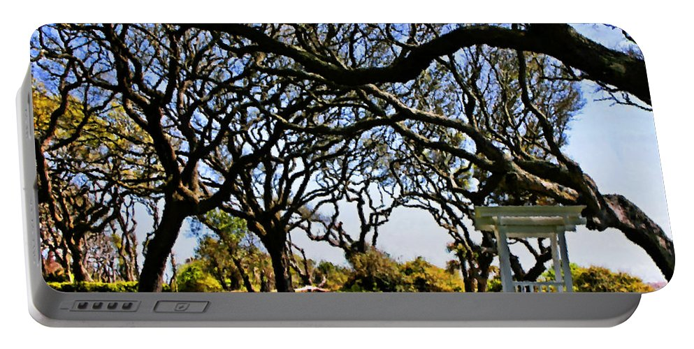 Live Oaks Portable Battery Charger featuring the digital art Tangled by Kristin Elmquist