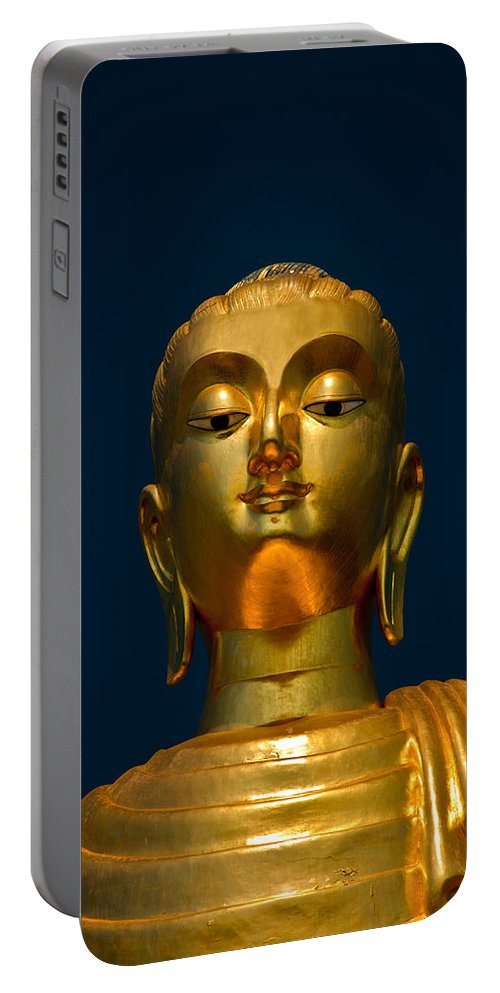 Temple Portable Battery Charger featuring the photograph Tangsai Buddha by Adrian Evans