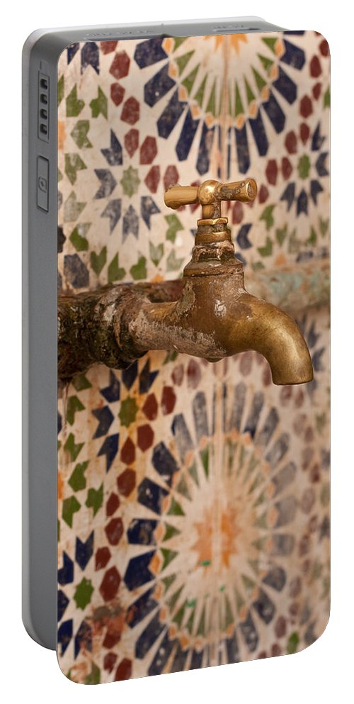 Ablution Portable Battery Charger featuring the photograph tap by Tom Gowanlock