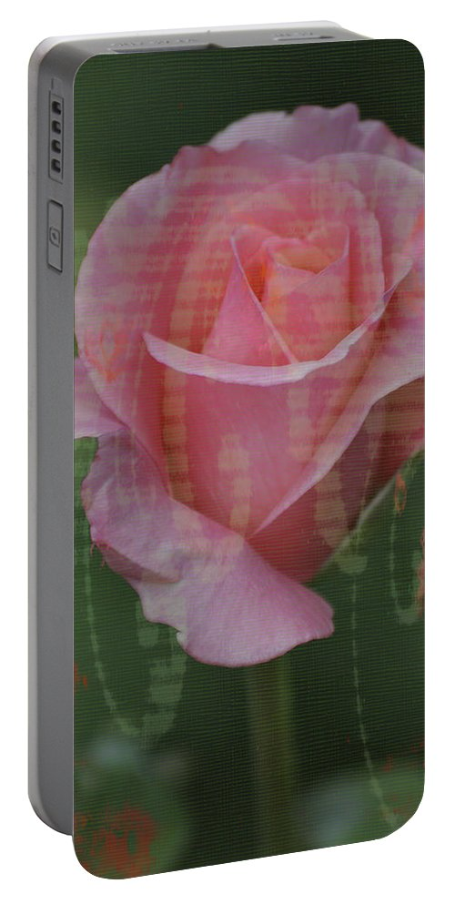 Tea Rose Portable Battery Charger featuring the photograph Tea Rose - Asia Series by Mary Machare