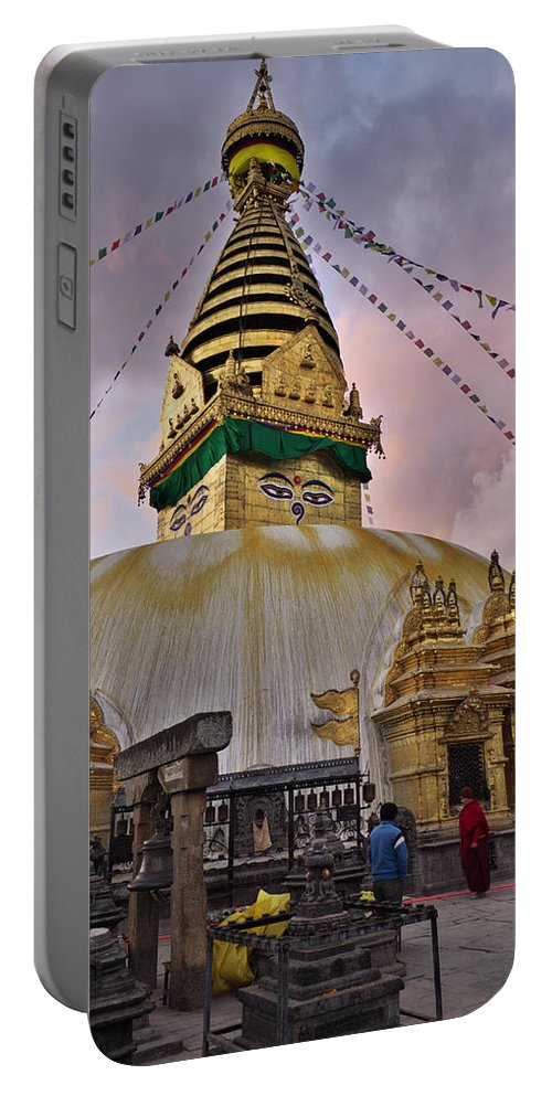 Temple Portable Battery Charger featuring the photograph Temple by Ivan Slosar