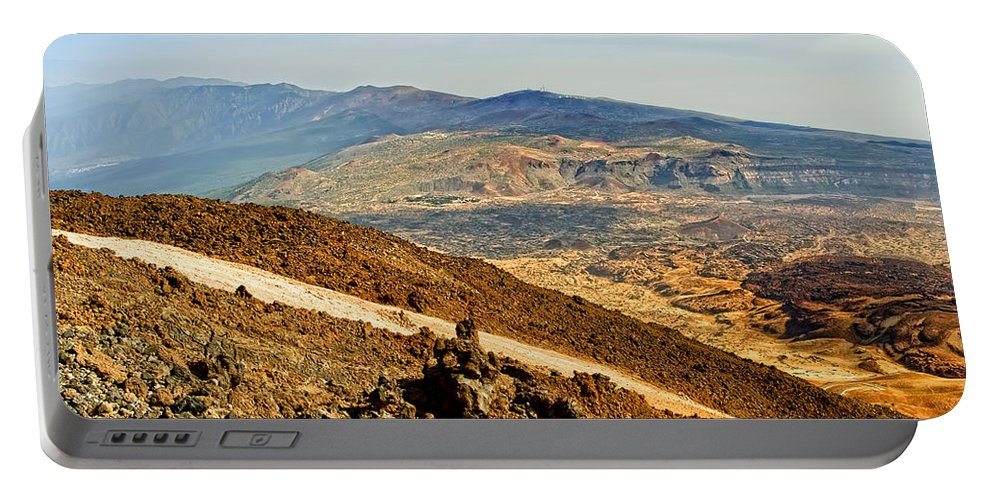 Nature Portable Battery Charger featuring the photograph Tenerife Volcanic Landscape by Artur Bogacki