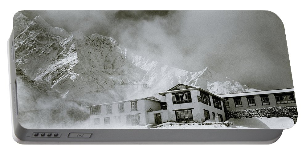 Tengboche Portable Battery Charger featuring the photograph Tengboche Monastery In The Himalaya by Shaun Higson