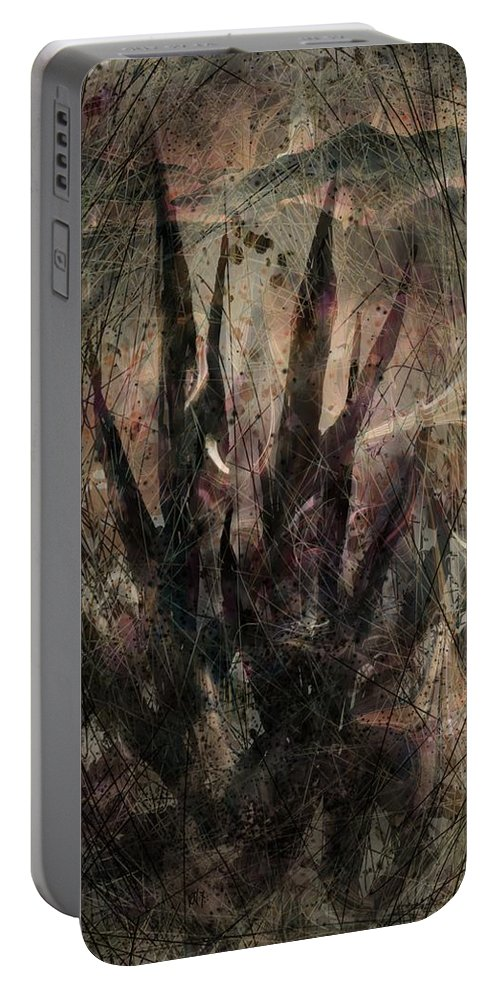 Landscape Portable Battery Charger featuring the digital art Tequila Sunrise by William Russell Nowicki