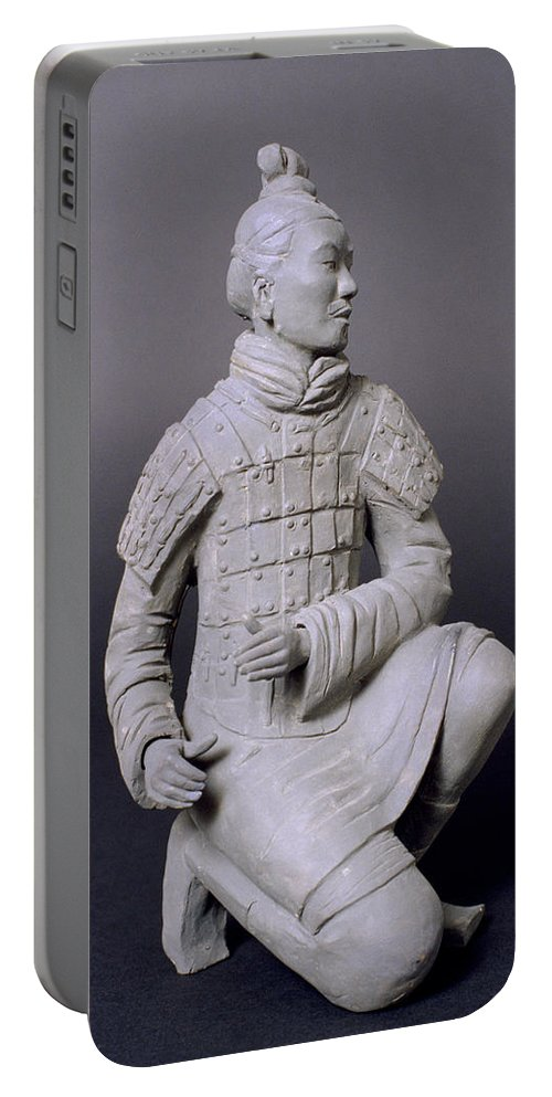 Terracotta Warrior Portable Battery Charger featuring the photograph Terracotta Warrior by Shaun Higson