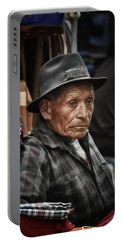 Cloth Portable Battery Charger featuring the photograph Textile Merchant by Tom Bell