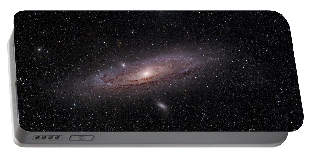 Astrology Portable Battery Charger featuring the photograph The Andromeda Galaxy by John Davis
