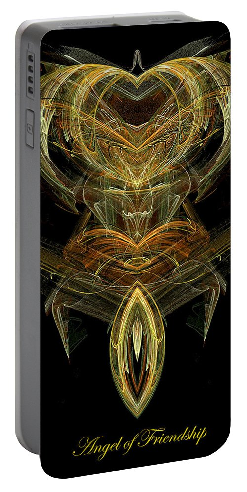 Angel Portable Battery Charger featuring the digital art The Angel Of Friendship by Diana Haronis