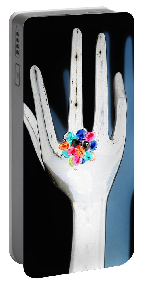 Hand Portable Battery Charger featuring the photograph The Arm And Hand In Negative by Rob Hans