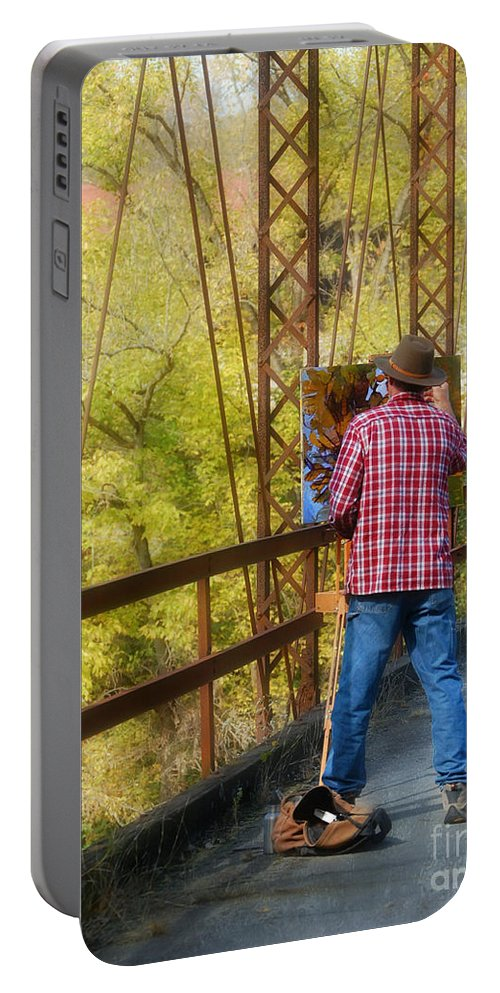 Landscape Portable Battery Charger featuring the photograph The Artist by Peggy Franz