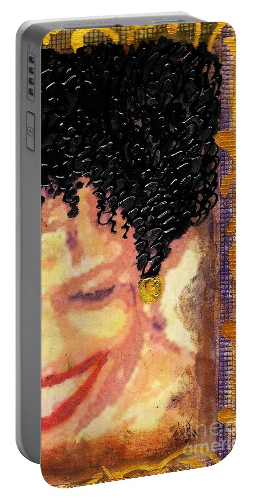 Angela Portable Battery Charger featuring the photograph The Artist Who Found Her Smile by Angela L Walker