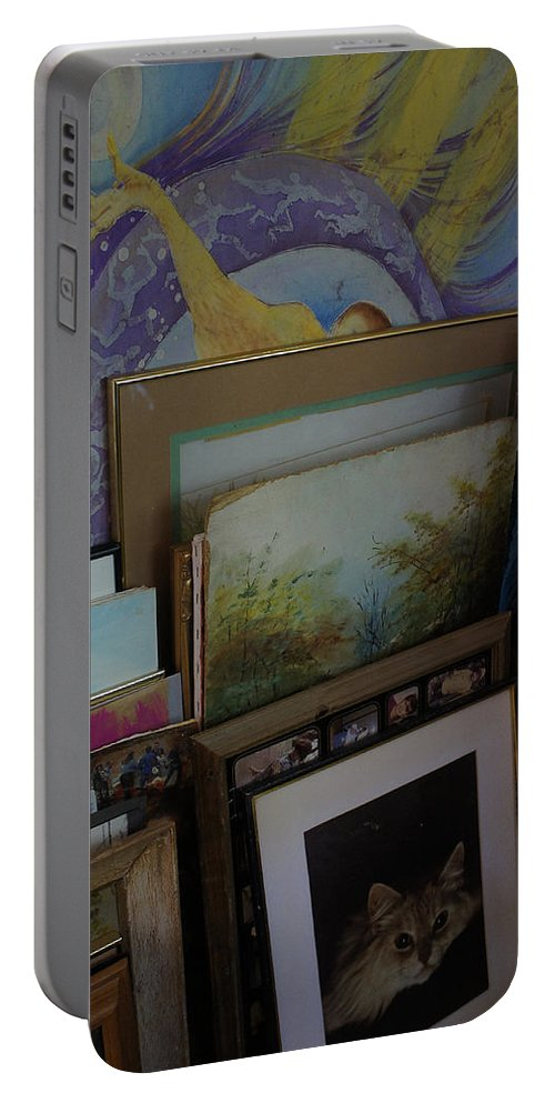 Artist Portable Battery Charger featuring the photograph The Artists Studio by Mick Anderson