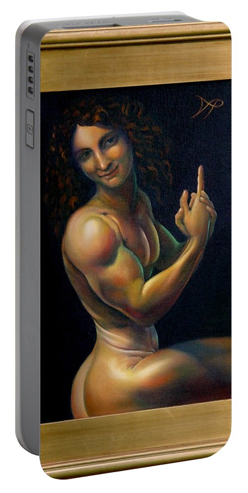 John Portable Battery Charger featuring the painting The Baptizer by Patrick Anthony Pierson
