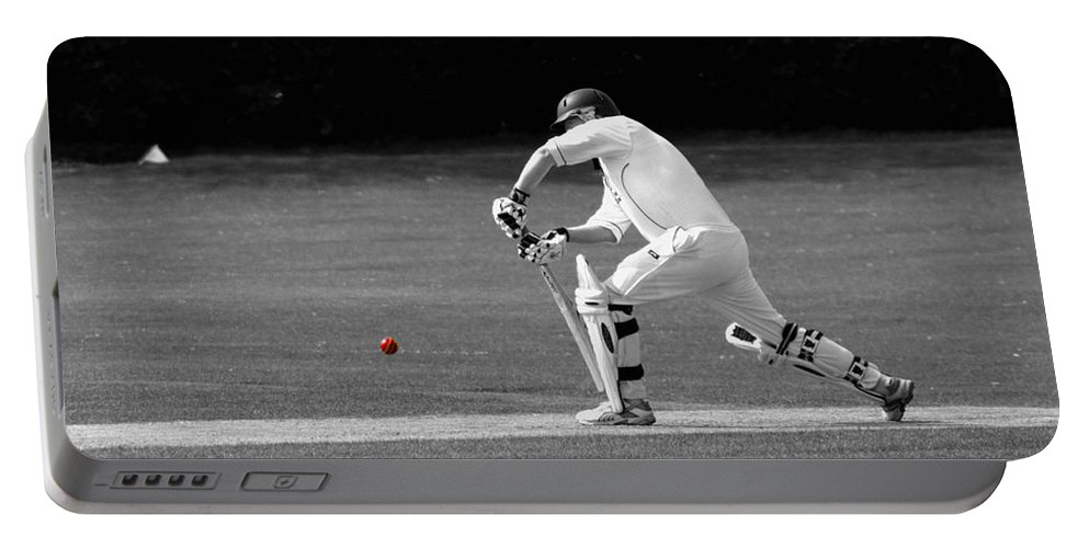Cricket Portable Battery Charger featuring the photograph The Batsman by Chris Day