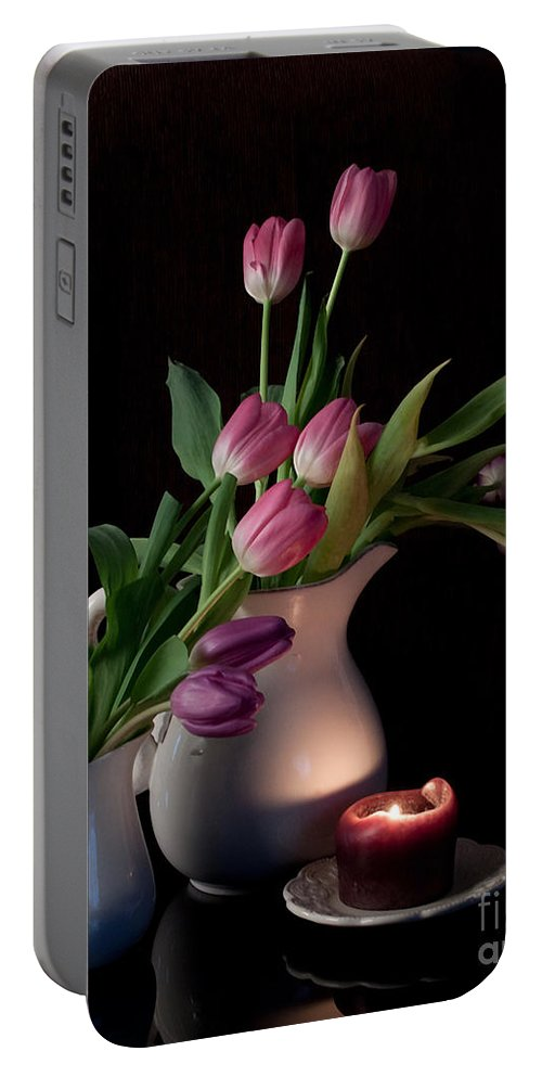 Tulips Portable Battery Charger featuring the photograph The Beauty Of Tulips by Sherry Hallemeier
