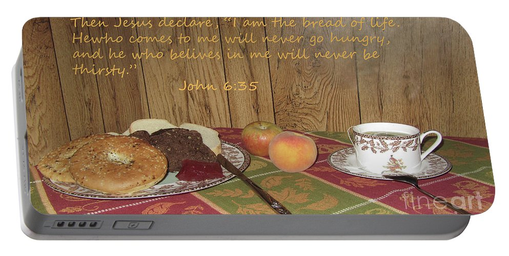 Bread Portable Battery Charger featuring the photograph The Bread Of Life by Donna Brown
