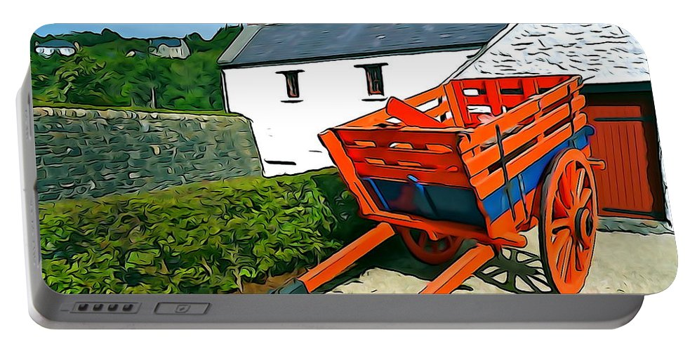 Orange Portable Battery Charger featuring the photograph The Cart by Charlie and Norma Brock