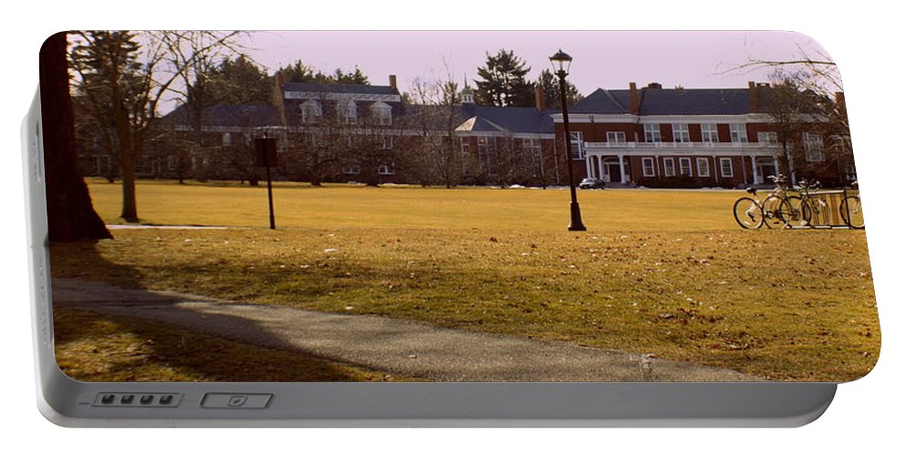Groton School Portable Battery Charger featuring the photograph The Circle by Marysue Ryan