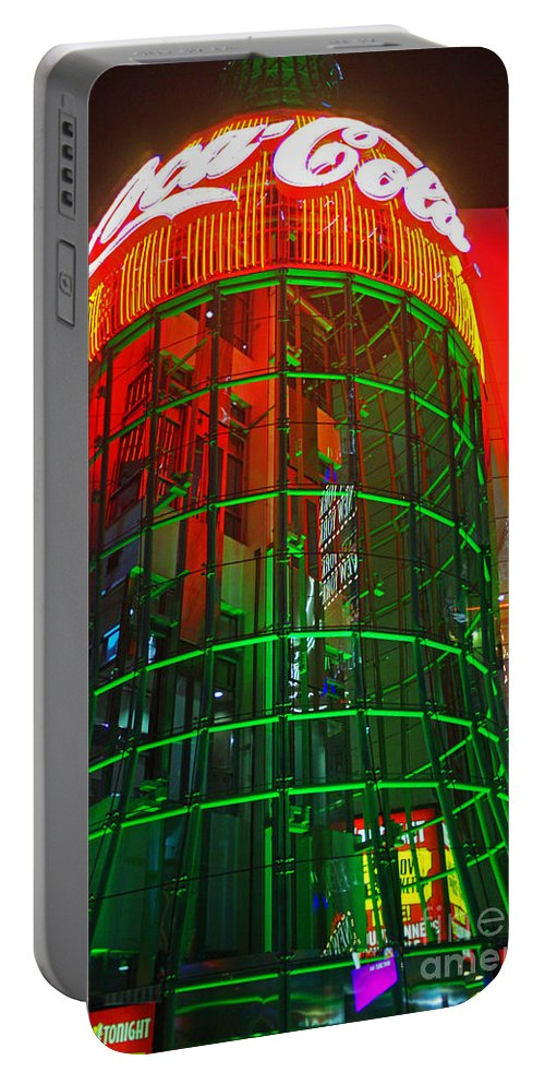 Vegas Portable Battery Charger featuring the photograph The Coca-cola Building by Randy Harris