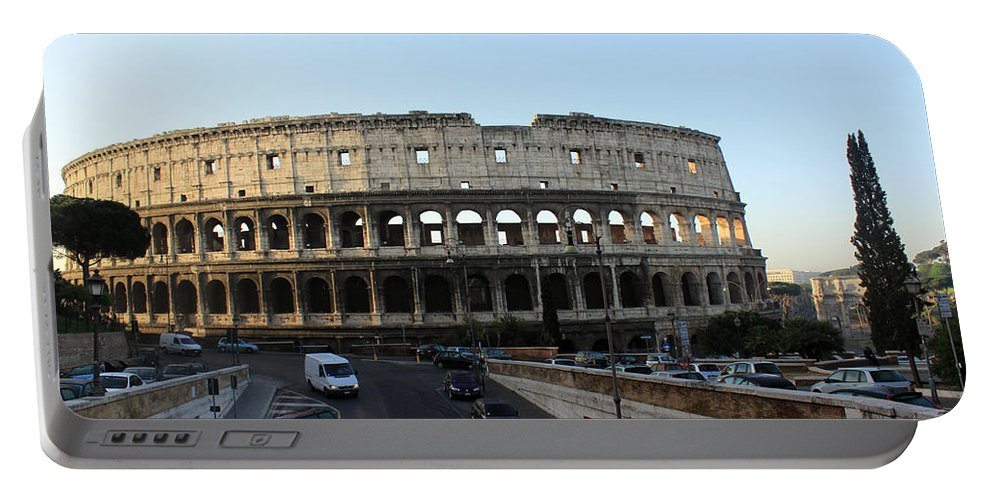 Rome Portable Battery Charger featuring the photograph The Colosseum in Rome by Munir Alawi
