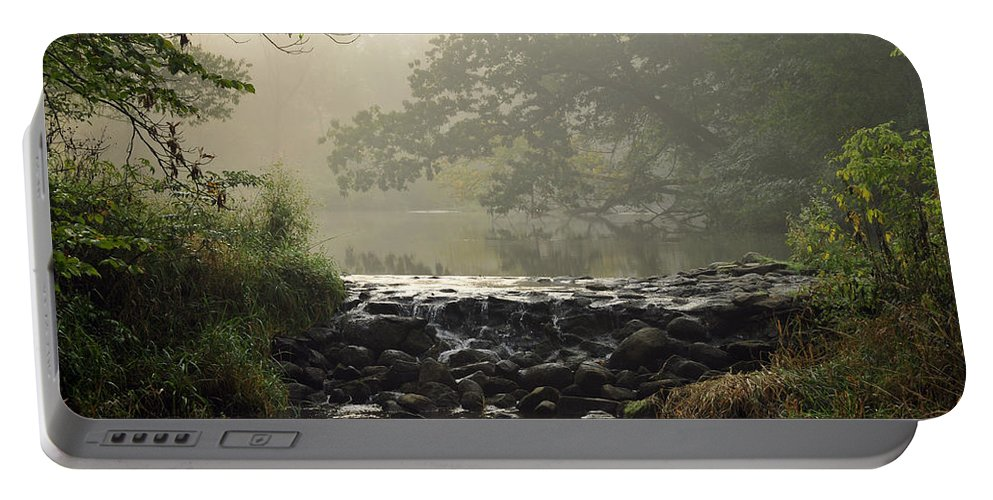 Waterfall Portable Battery Charger featuring the photograph The Crossing by David Arment