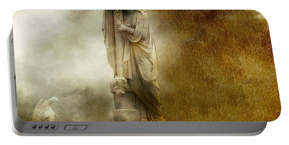 Angels Portable Battery Charger featuring the photograph The Dark Cloud by Gothicrow Images